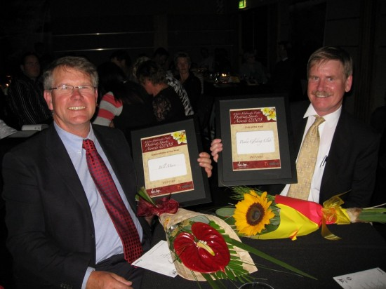 Bill Mace and Steve Care with the awards